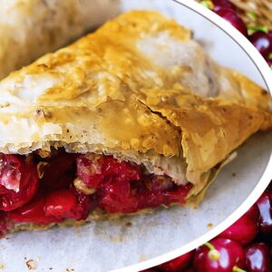Hungarian Cherry Strudel Recipe | My Easy Cheery Pie Video #193