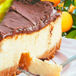 Orange and Chocolate Cheesecake (Easy Chocolate Cheesecake Recipe)