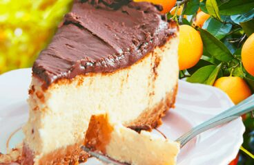 Orange and Chocolate Cheesecake Recipe | Easy Baking Cheesecake Video #165<span class=