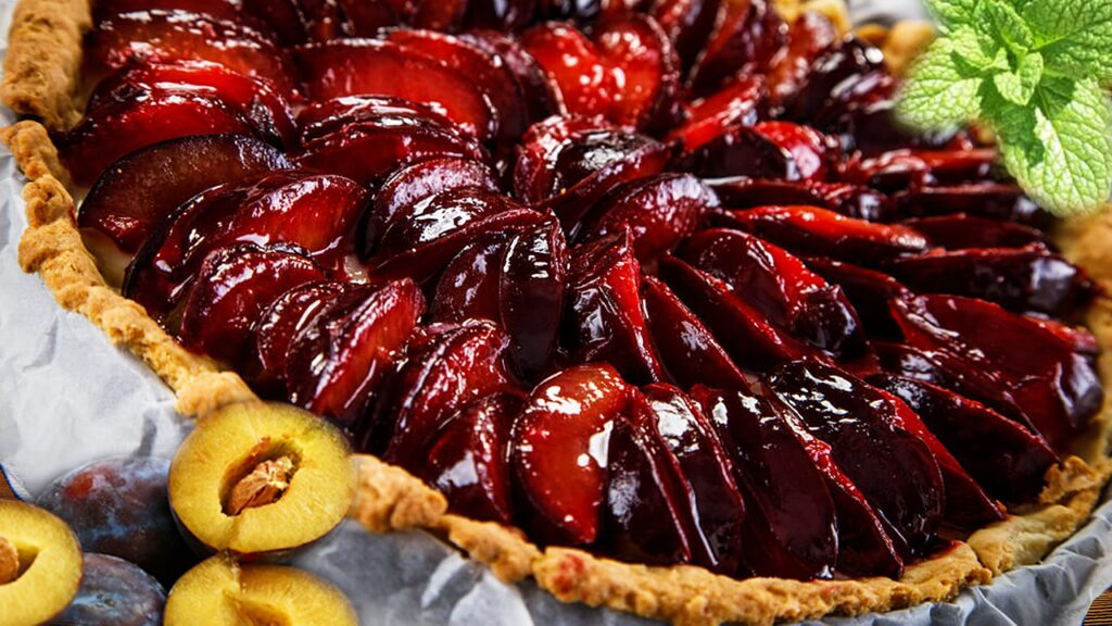 Plum Pie - Easy Fruit Tart Recipe