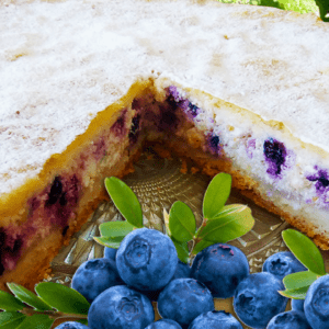Baked Blueberry Cheesecake (Easy Blueberry Cheesecake Recipe)