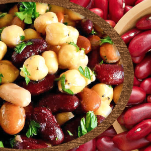 Easy Kidney Bean and Chickpea Salad (Red Kidney Bean Salad Recipe in 7 Steps)