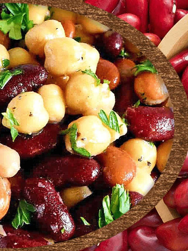Old Fashioned Kidney Bean And Chickpea Salad Easy Kidney Bean Salad Recipe
