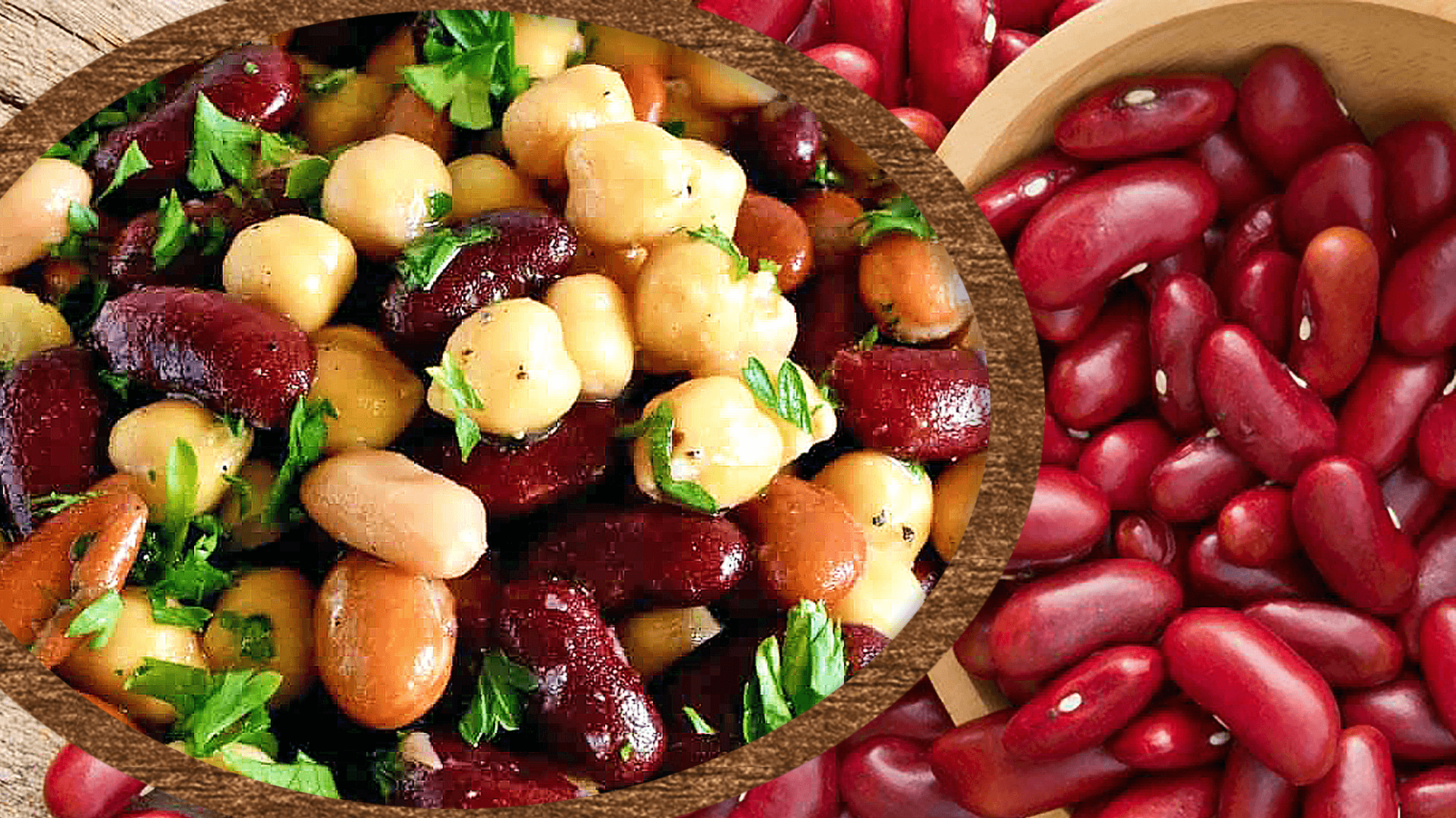 Red Kidney Bean and Chickpea Salad