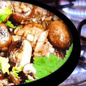 Fresh Mushroom Stew with Onions (Easy Mushroom Stew Recipe)
