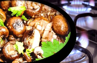 Delightful Fresh Mushroom Stew with Onions | My Easy Cooking Mushrooms Video #357<span class=