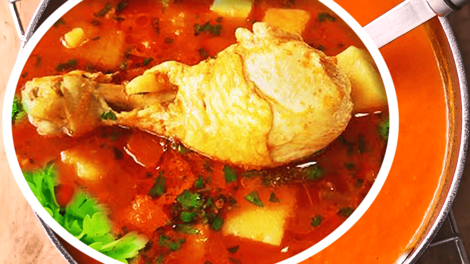 Easy Homemade Tomato Chicken Vegetable Soup Recipe