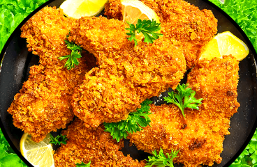 Breaded Chicken Wings Recipe | Easy Cooking Chicken Wings Video #296<span class=