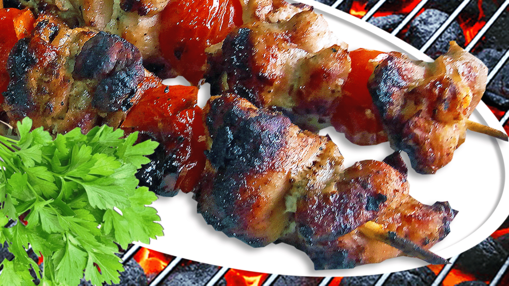 Pork Kabobs Recipe with Tomatoes