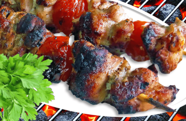 Pork Kabobs in the Oven or on the Grill | My Easy Pork Kabobs Recipe #152<span class=
