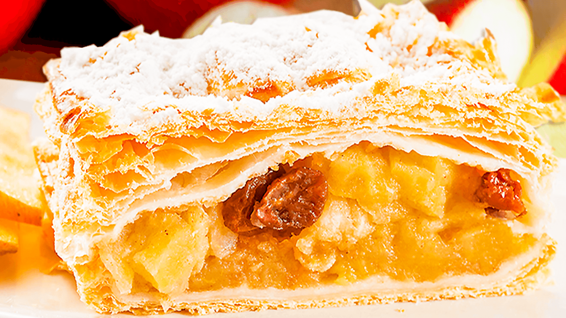 German Apple Strudel Recipe with Phyllo Pastry
