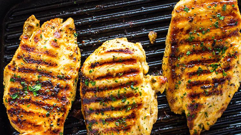 Grilled Chicken Breast in the Pan - Best Grilled Chicken Breast Recipe