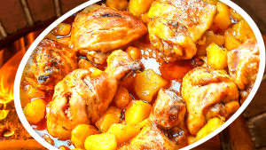 Oven-Baked Chicken Legs with Quince - Cooking Chicken Legs in the Oven
