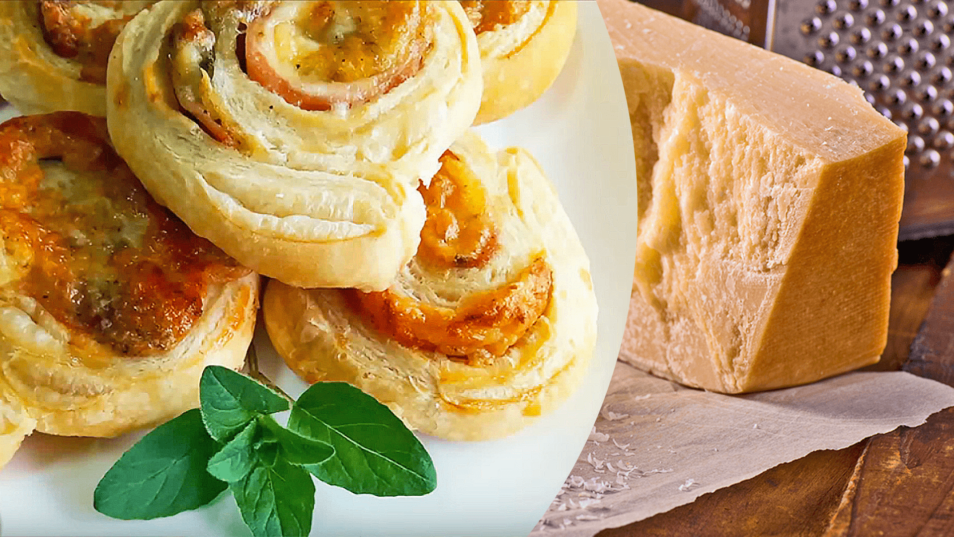 Ham and Cheese Pinwheels with Puff Pastry
