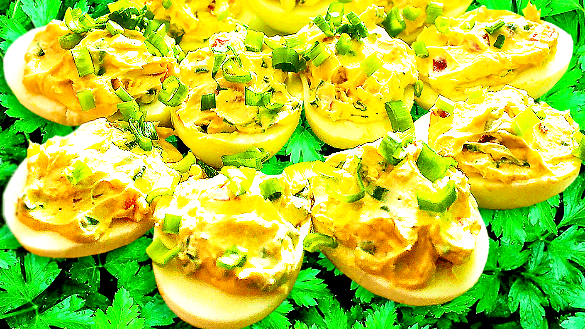 Best Deviled Egg Recipe with Bacon or Ham
