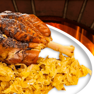 Baked Pork Knuckle with Sauerkraut (Easy Ham Shank Recipe)