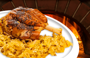 Baked Pork Knuckle with Sauerkraut | My Easy Smoked Pork Hock Recipe #045<span class=