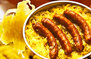 Easy Sausage and Sauerkraut Casserole (Baked Sauerkraut Recipe in 8 Steps)<span class=