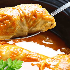Sweet Cabbage Stuffed Rolls (Easy Hungarian Stuffed Cabbage Rolls Recipe)