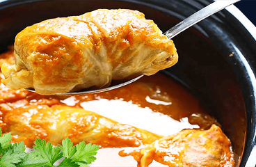 Authentic Sweet Cabbage Stuffed Rolls (Hungarian Stuffed Cabbage Rolls Recipe in 17 Steps)<span class=