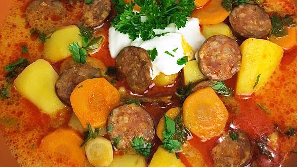 Hungarian Potato Soup Recipe - Easy Smoked Sausage and Potato Soup