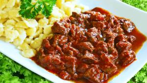 Beef Goulash with Dumplings - Authentic Hungarian Goulash Recipe