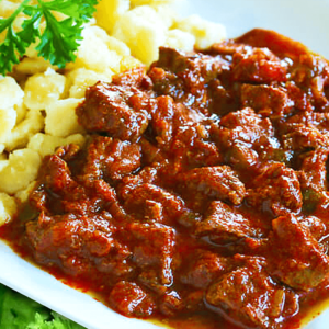 Beef Goulash with Dumplings (100% Authentic Hungarian Goulash Recipe)