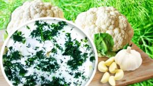 Cauliflower Salad Recipe with Mayonnaise and Garlic