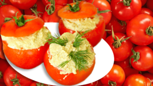 Cold Stuffed Tomatoes (Eggplant Salad Appetizer)