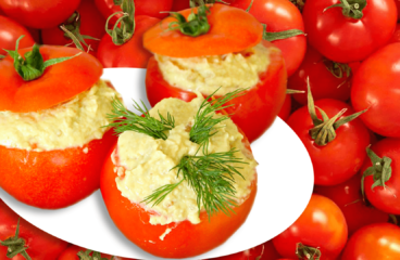 "Cold Stuffed Tomatoes with Eggplant Salad (Easy Stuffed Tomatoes Recipe)<span class=""rmp-archive-results-widget ""><i class="" rmp-icon rmp-icon--ratings rmp-icon--star rmp-icon--full-highlight""></i><i class="" rmp-icon rmp-icon--ratings rmp-icon--star rmp-icon--full-highlight""></i><i class="" rmp-icon rmp-icon--ratings rmp-icon--star rmp-icon--full-highlight""></i><i class="" rmp-icon rmp-icon--ratings rmp-icon--star rmp-icon--full-highlight""></i><i class="" rmp-icon rmp-icon--ratings rmp-icon--star rmp-icon--full-highlight""></i> <span>5 (1)</span></span>"