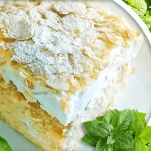 Delightful Vanilla Slice Recipe with Whipped Cream | Easy Vanilla Slice Video #233