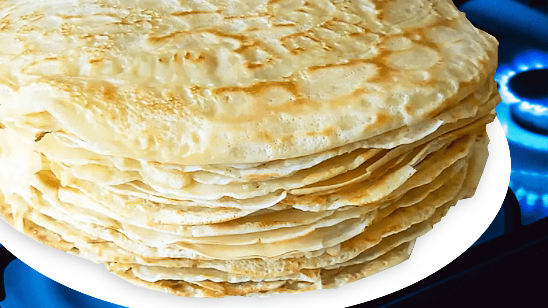 Basic French Crepes with Milk