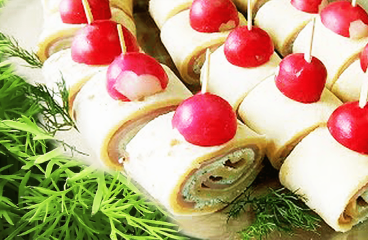 Quick Ham and Cheese Roll-Ups | My Easy Cream Cheese Pinwheels #039<span class=