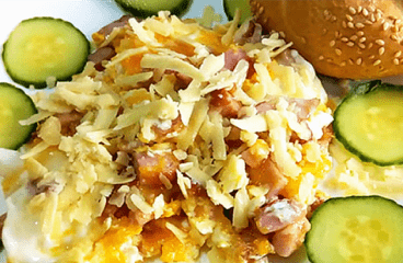 Easy Scrambled Eggs Recipe | Basic Scrambled Eggs with Ham and Cheese #123<span class=