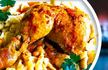 Authentic Hungarian Chicken Paprikash with Dumplings in 16 Steps<span class=