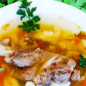 Authentic Hungarian Lamb Soup with Dumplings in 9 Steps