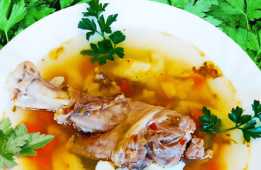 Authentic Hungarian Lamb Soup with Dumplings in 9 Steps<span class=