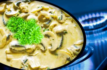 Creamy Mushroom Sauce Recipe | My Easy Cooking Mushrooms Video #241<span class=