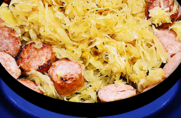 Sauerkraut and Sausage Casserole Recipe | My Easy Sauerkraut Video #030<span class=