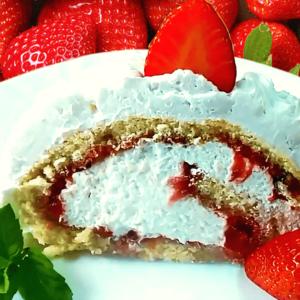 RECIPE #1! Strawberry Swiss Roll Cake - Easy Swiss Roll Recipe