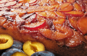Homemade Upside-Down Plum Cake Recipe | My Easy Plum Cake Video #101<span class=