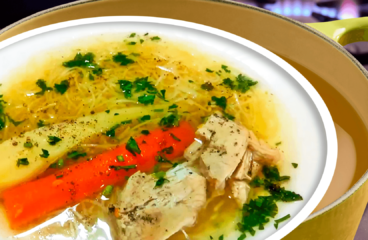 Vegetable Chicken Noodle Soup Recipe | My Easy Chicken Soup Video #093<span class=
