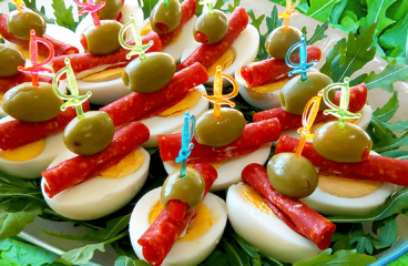 "Appetizers on a Stick with Egg and Salami (Easy Cold Appetizer Recipe)<span class=""rmp-archive-results-widget ""><i class="" rmp-icon rmp-icon--ratings rmp-icon--star rmp-icon--full-highlight""></i><i class="" rmp-icon rmp-icon--ratings rmp-icon--star rmp-icon--full-highlight""></i><i class="" rmp-icon rmp-icon--ratings rmp-icon--star rmp-icon--full-highlight""></i><i class="" rmp-icon rmp-icon--ratings rmp-icon--star rmp-icon--full-highlight""></i><i class="" rmp-icon rmp-icon--ratings rmp-icon--star rmp-icon--full-highlight""></i> <span>5 (2)</span></span>"