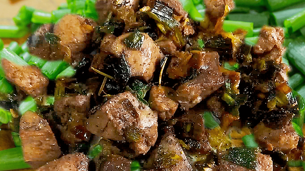 Fried Lamb Liver with Green Onions