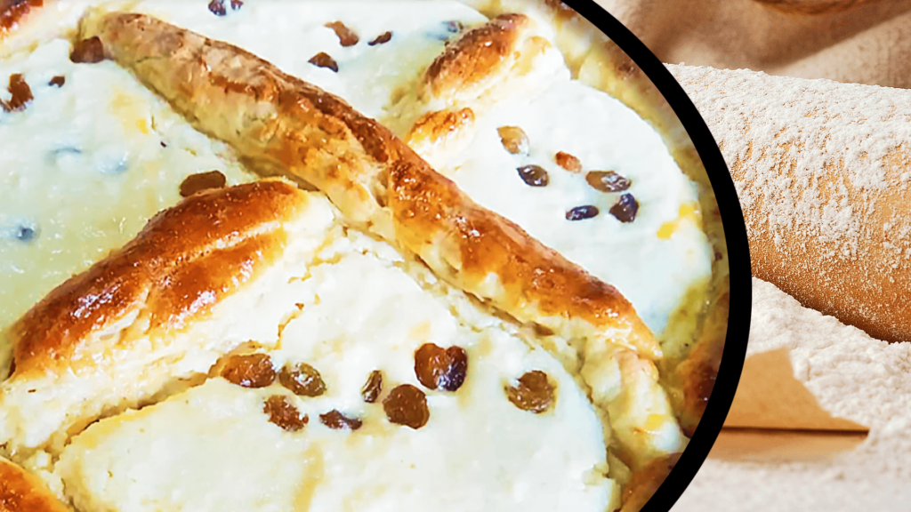 Easter Cheesecake with Raisins
