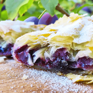 Easy Plum Strudel Recipe (Fresh Plum Cake Recipe in 13 Steps)