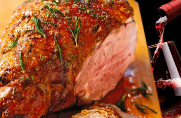 Greek Roast Leg of Lamb Recipe | My Easy Cooking Lamb with Wine #224<span class=