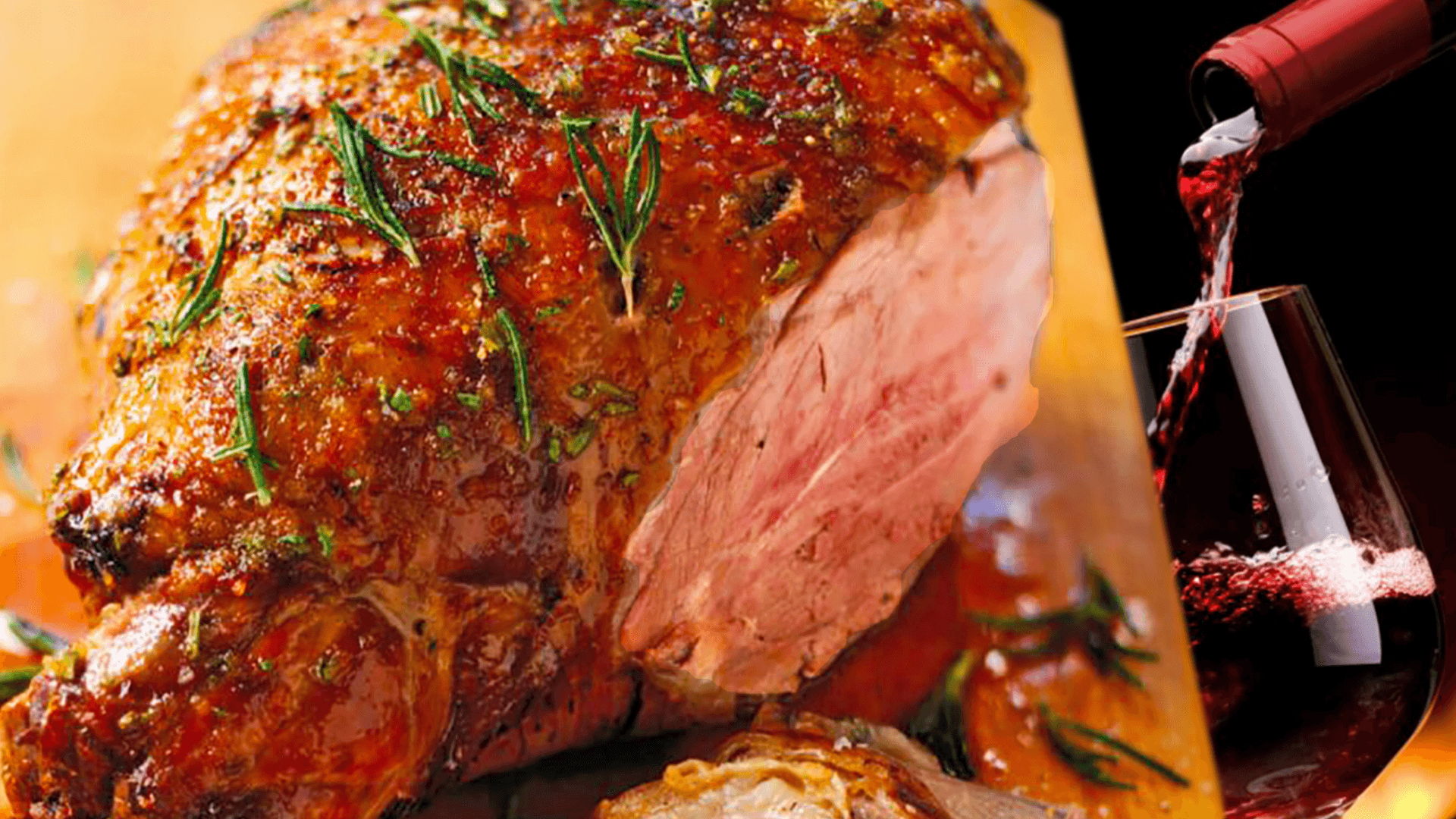 Greek Roast Leg of Lamb Recipe with Wine