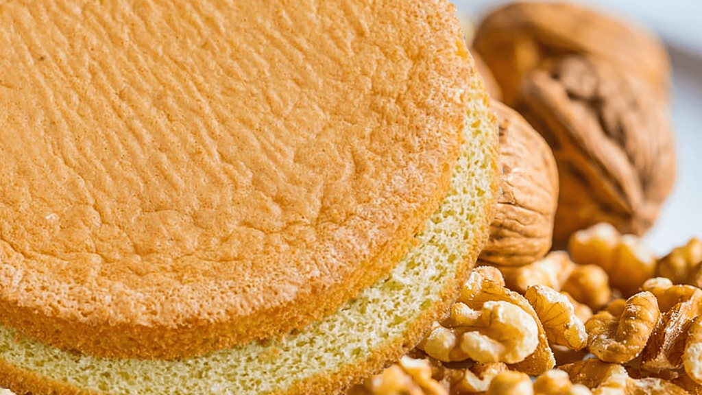 Walnut Sponge Cake Recipe with 8 Eggs