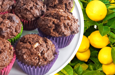 Muffins Recipe | Basic Lemon and Chocolate Muffins from Scratch #362<span class=
